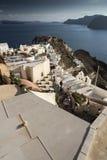 Santorini Caldera från Oia royaltyfri fotografi