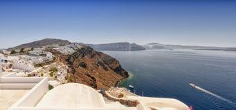 Santorini Caldera Panorama Royalty Free Stock Photography