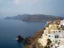 Santorini caldera Stock Image