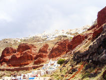 Santorini caldera Stock Photography