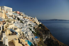 Santorini Caldera view. This shot was taken in Fira Town, the capital of Santorini, the most famous island of the Cyclades in Greece Royalty Free Stock Image