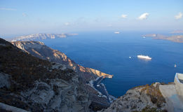 Santorini caldera view Stock Photos
