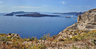 Santorini Caldera View Royalty Free Stock Image