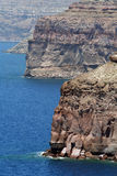 Santorini caldera view Royalty Free Stock Photos