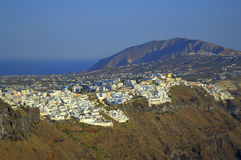 Santorini capital Thira scenic view Stock Photography