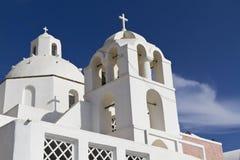 Santorini chapel. A white church/chapel in the village of Thira on Santorini, Greece Royalty Free Stock Photography