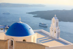 Santorini church Royalty Free Stock Photo