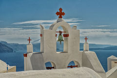Santorini church Stock Photography