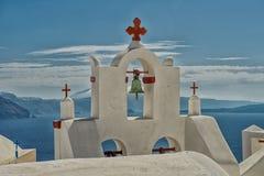 Santorini church Stock Photography