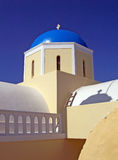 Santorini church Stock Image