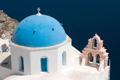 Santorini Church. The most famous church on Santorini Island, Greece royalty free stock images