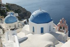 Santorini church. Oya church in santorini greece Royalty Free Stock Photo