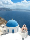 Santorini  church. Santorini church on the hills Stock Photography