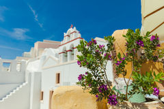 Santorini church Stock Image