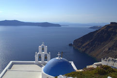 Santorini church and Caldera Royalty Free Stock Photo
