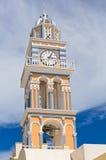 Santorini Church clock tower. Church clock tower. Greece, Santorini, Fira Royalty Free Stock Photography