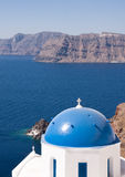 Santorini Church Dome, Greece Royalty Free Stock Image