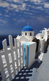 Santorini Church in Fira, Greece Stock Photo