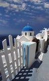 Santorini Church in Fira, Greece Stock Photo