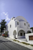 Santorini church (Firostefani) Royalty Free Stock Photos