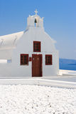 Santorini church. Greece Stock Photos