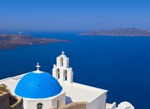 Santorini church - Greece Stock Photos
