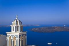 Santorini church - Greece royalty free stock photo
