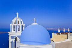 Santorini church - Greece Royalty Free Stock Photos