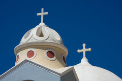 Santorini Church, Greece. Santorini Church with Blue Sky, Greece stock photos