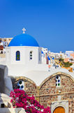 Santorini church (Oia), Greece stock images