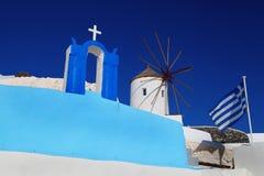 Santorini Church in Oia, Greece Stock Photo