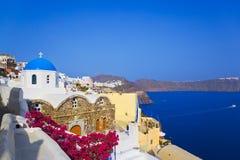 Santorini church (Oia), Greece royalty free stock images