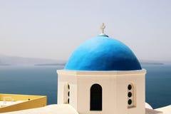 Santorini church Stock Images