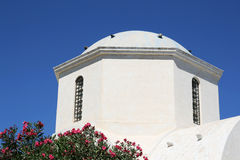 Santorini Church Tower Stock Photo