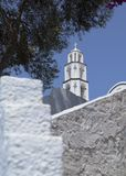 Santorini church tower Stock Photography