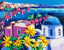 Santorini churches Royalty Free Stock Photography