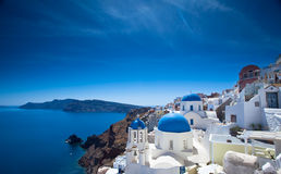 Santorini Churches Stock Image