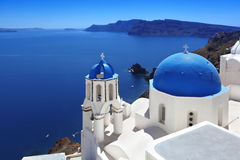 Santorini Churches in Oia, Greece Stock Image