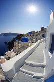 Santorini Churches in Oia, Greece Stock Photography