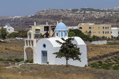 Santorini Churchs Fotografia Stock
