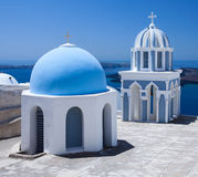 Santorini Churchtop Royalty Free Stock Image