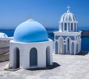 Santorini Churchtop royalty-vrije stock afbeelding