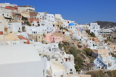 Santorini - city on a rock. Stock Photo