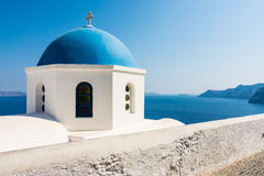 Santorini. Classic view of a particular of the city of santorini. Oia Stock Photo