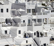 Santorini in the cliff Stock Photography
