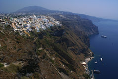 Santorini Cliffs. Beautiful view in Santorini, Greece Royalty Free Stock Images