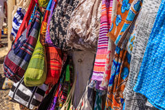 Santorini clothes II. Some other souvenirs and clothes from Santorini royalty free stock photo