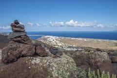 Santorini coast Stock Photo