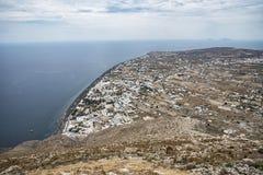 Santorini coast Stock Photography