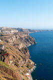 Santorini coastline Stock Image